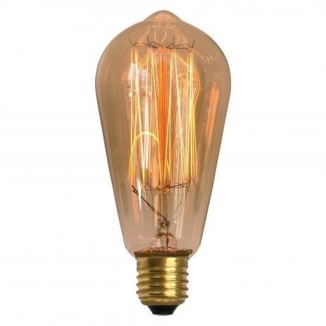 Lâmpada Retro Filamento Carbono